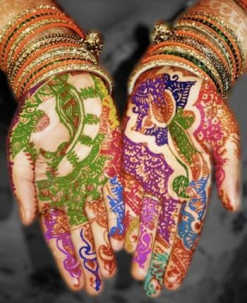 Bridal-Wedding-Wear-Multi-Color-Mehndi-Designs