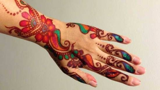 Colored Bangle-Mehendi