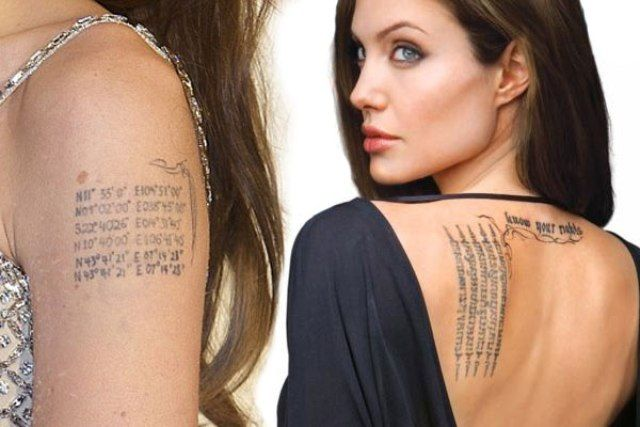 Angelina Jolie's 15 Tattoos & Their Meanings – Body Art Guru