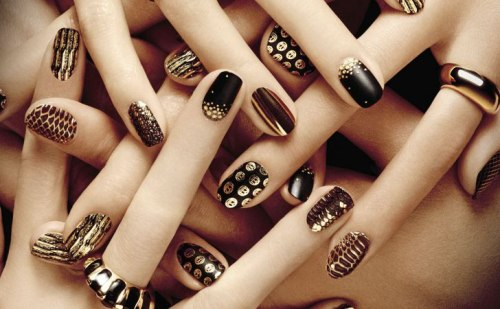 Beautiful-Black-New-Year-Nail-Art - 50 Beautiful Nail Art Designs & Ideas – Body Art Guru