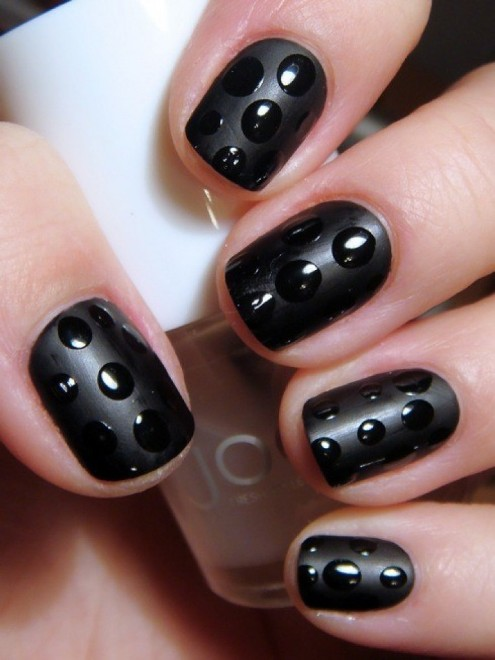 Dark-Black-Nail-Art-Puzzel-Games