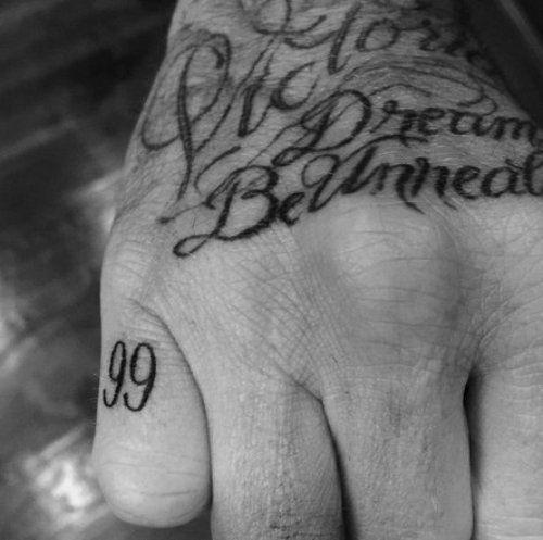 David-Beckham 99 tat