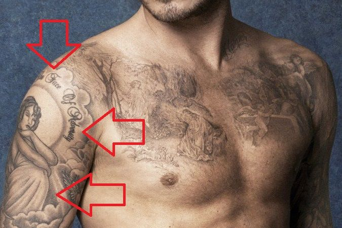 David Beckham-Angel tattoo