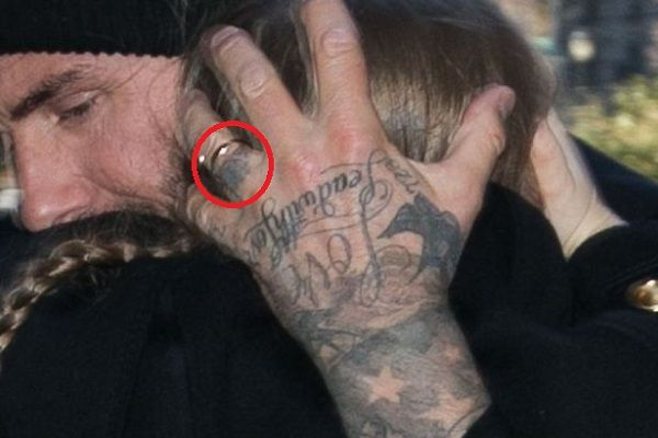 David Beckham-Tiny Rose Tattoo-Ring Finger