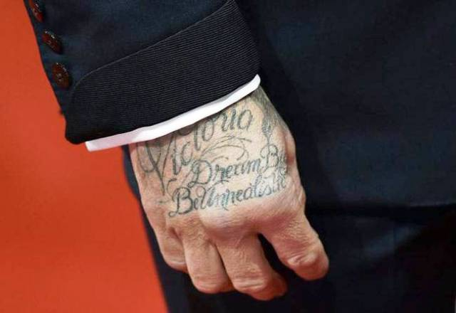 David Beckham tattoo Dream big, be unrealistic