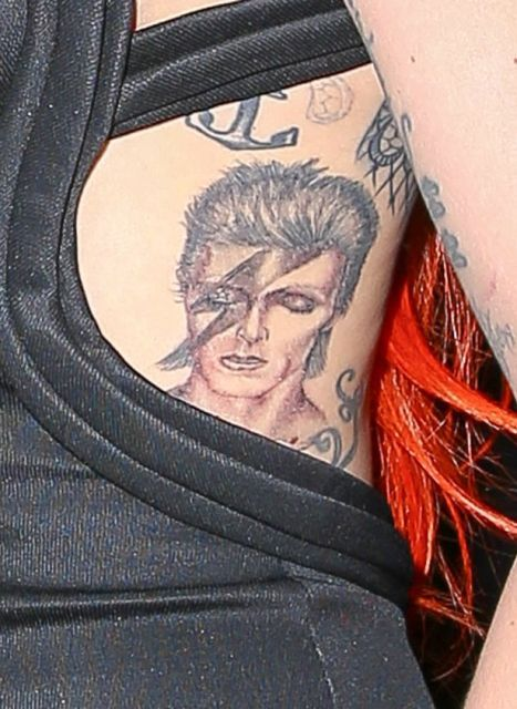 Lady Gaga tattoo late David Bowie