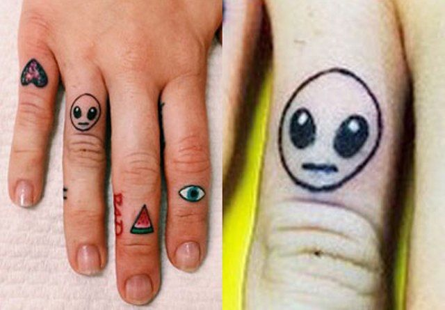 Miley Cyrus tattoo Alien