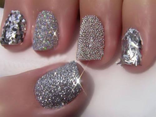 Nail Art Designs Jewel Encrusted Happy Shappy