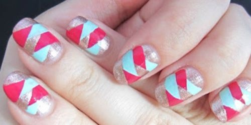 Nail art braided