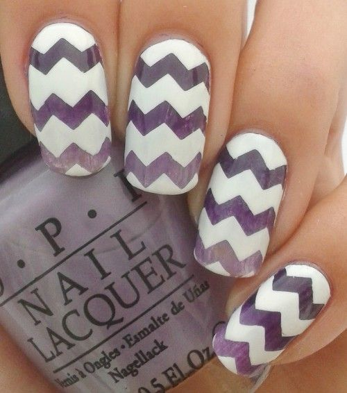 Ombre chevron stripes