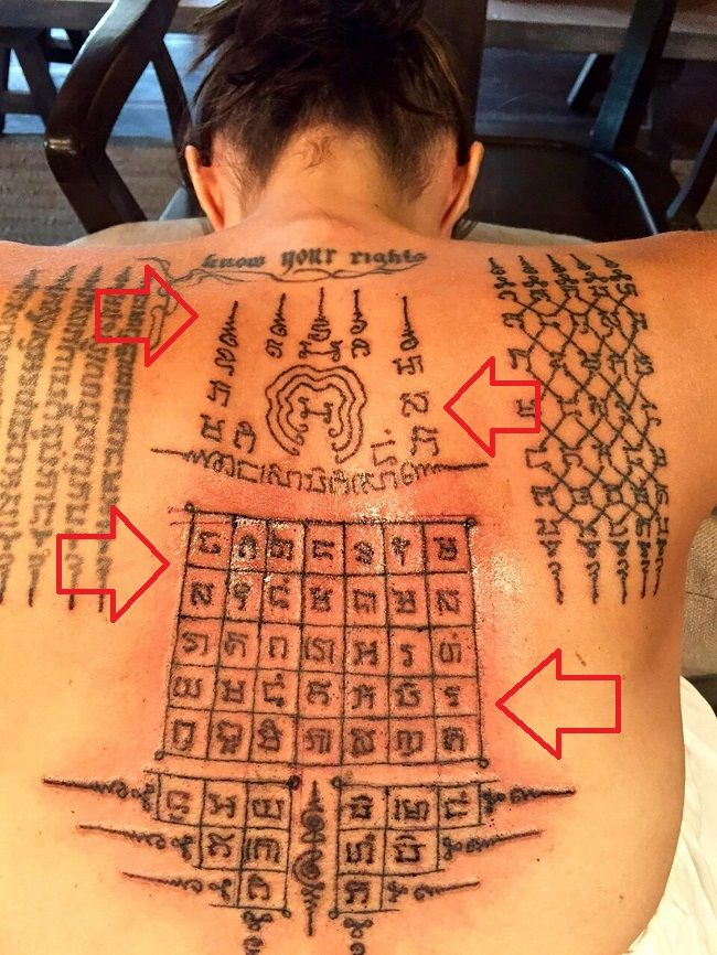 angelina jolie-Yant ViHan Pha Chad Sada tattoo