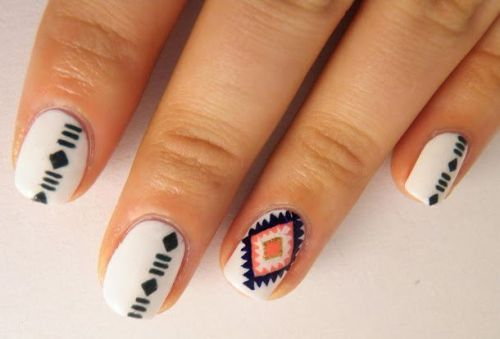 50 beautiful nail art designs ideas body art guru aztec nail art design prinsesfo Images