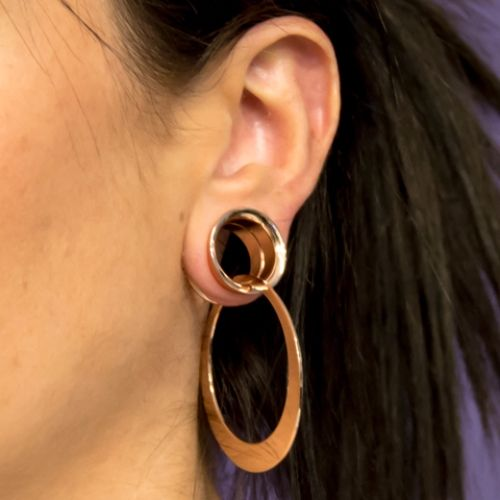 beautiful ear piercing