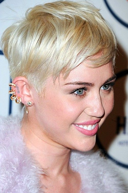 Miley Cyrus Double Cartilage Piercing | www.pixshark.com ...