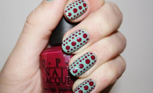 dot to dot nail art