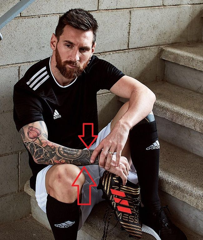 Lionel Messi's 18 Tattoos & Their Meanings
