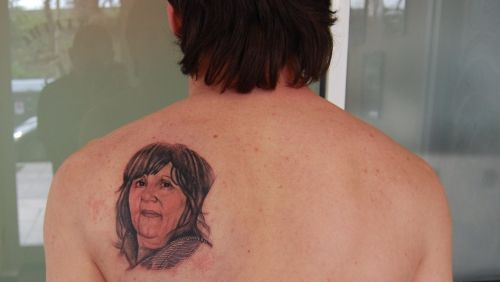 messi's mothers potrait tat
