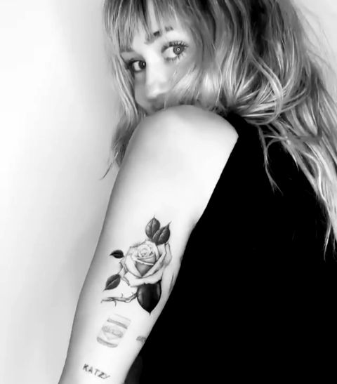 miley cyrus-rose tattoo
