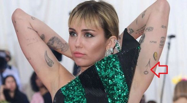 miley cyrus-sunflower tattoo