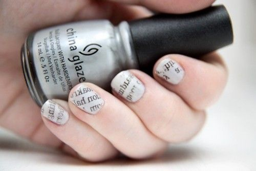 newspaper nail art