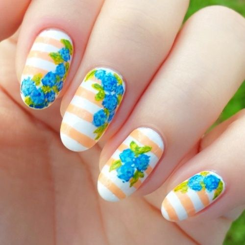 painterly prints nail art