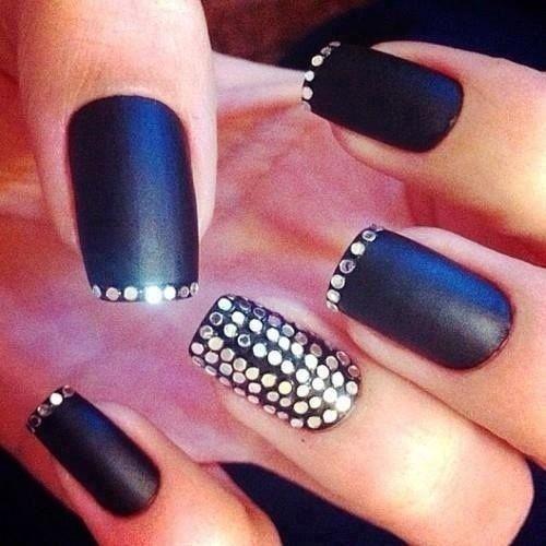 sequinned nail art