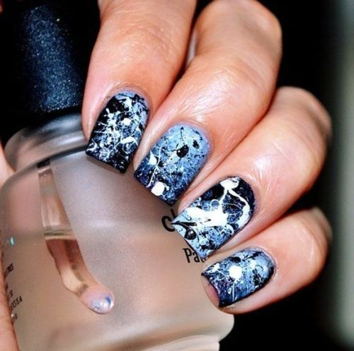 50 beautiful nail art designs ideas body art guru splatter nails prinsesfo Image collections