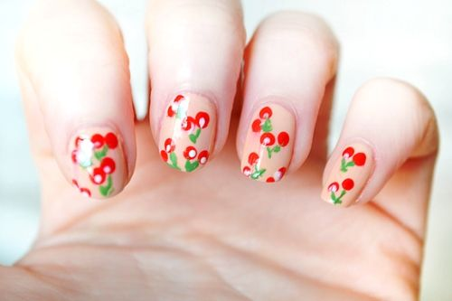 very cherry nails