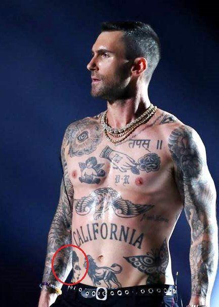 Adam Levine Centaur Tattoo