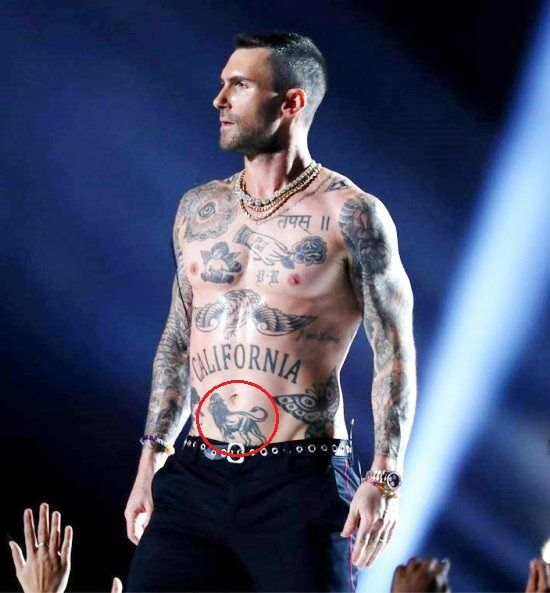 Adam Levine Lion Tattoo