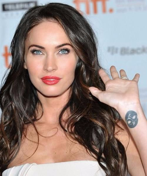 Megan-Fox-tribal tattoo