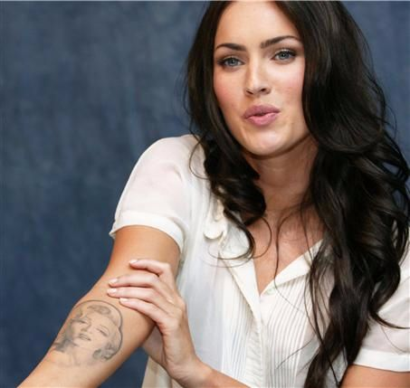 megan fox-marilyn monroe tattoo