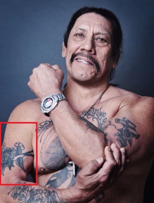 danny trejo-humming bird tattoo