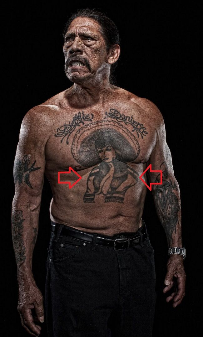 danny trejo-mexican cowgirl tattoo