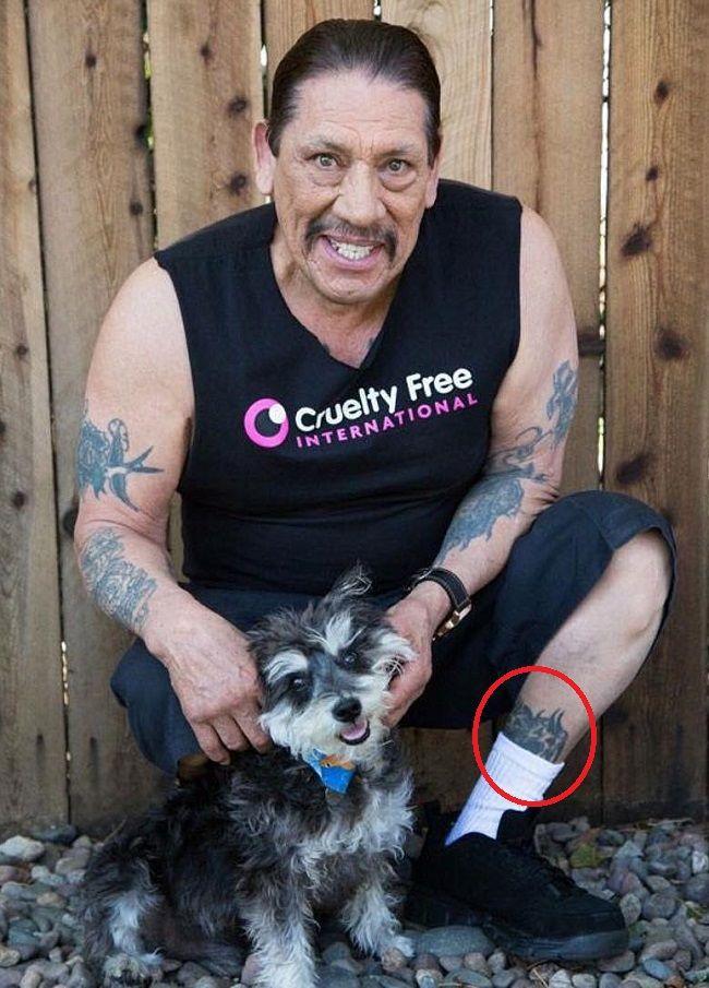 danny trejo-portrait of pets tattoo