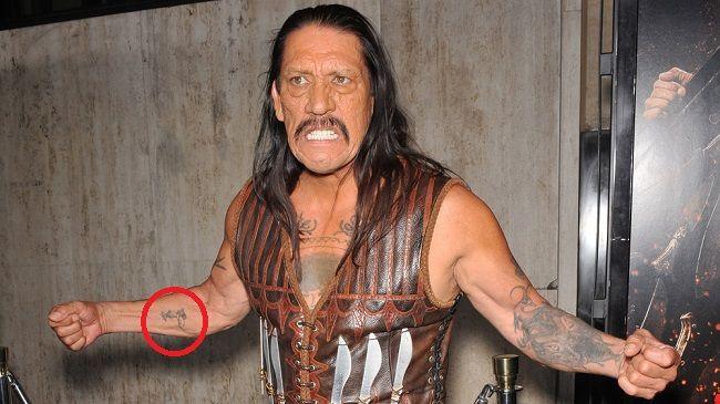 danny trejo-unidentified tattoo