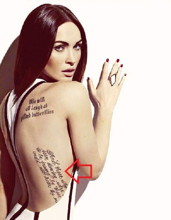 megan fox-quote tattoo