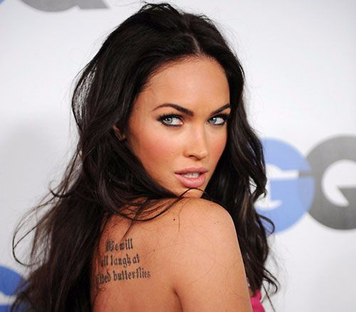 megan fox-shakespeare quote tattoo