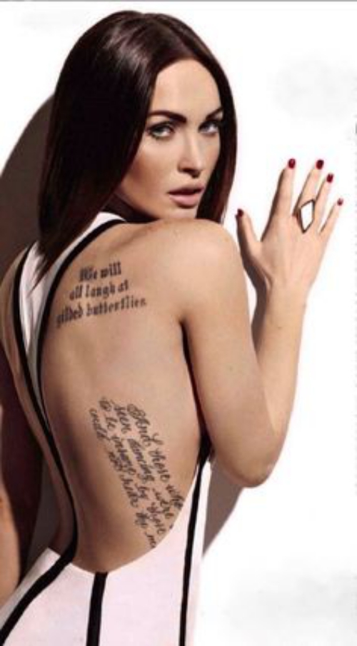 Hasil gambar untuk megan fox tatto