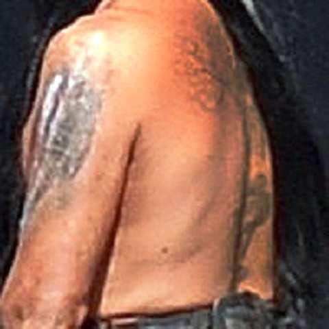 Johnny Depp tattoo Les Fleurs du Mal