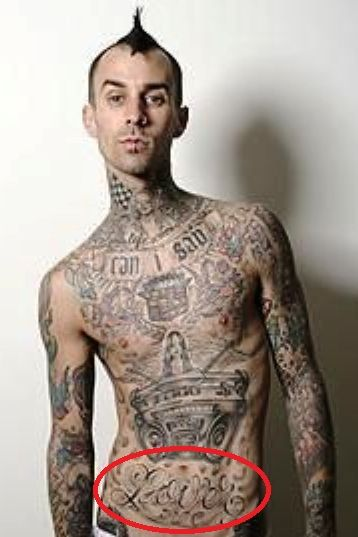 Travis Barker tattoo lover