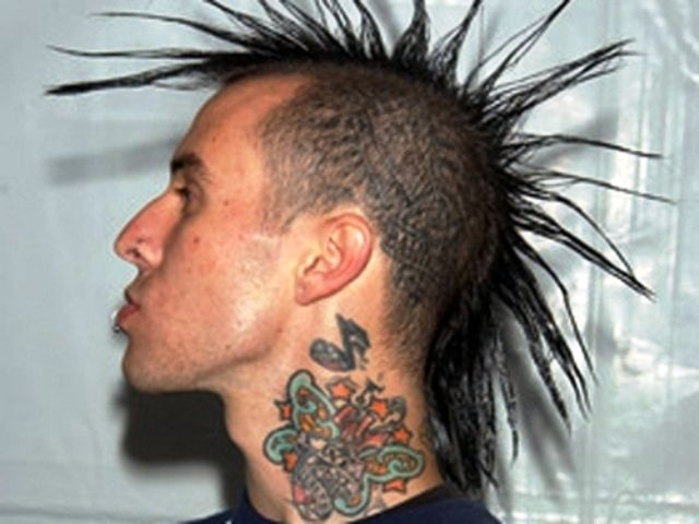Travis Barker tattoo on neck