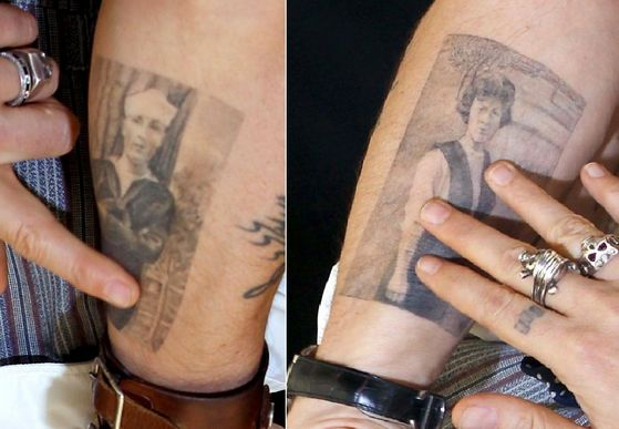 Johnny Depp S 31 Tattoos Their Meanings Body Art Guru