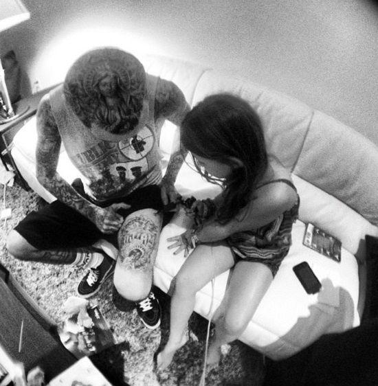 travis barker-alabama-kids tattoo