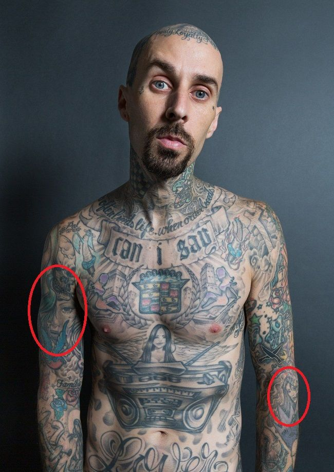 travis barker-female portraits tattoo
