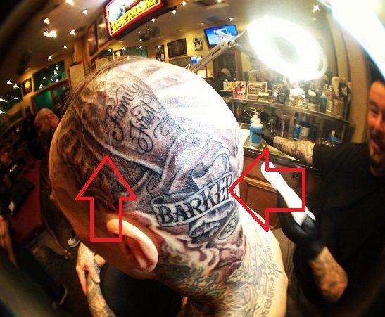 travis barker-praying hands tattoo