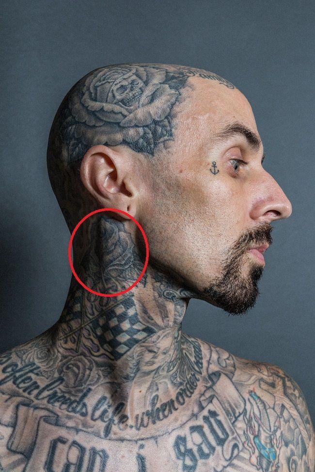 travis barker-rose tattoo