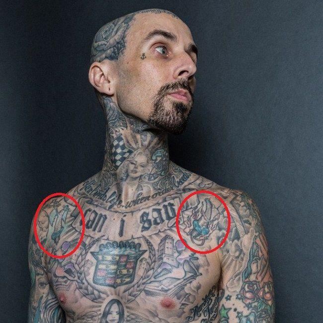 travis barker-spark plugs tattoo