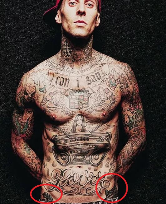 travis barker unidentified tattoos 2