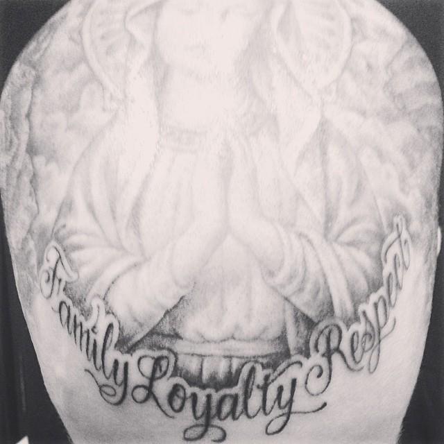 travis-family loyalty respect tattoo
